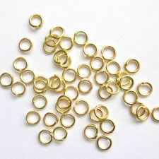 1000 Assorted Gold Plated Jump Rings 4mm,5mm,6mm 7mm 8mm