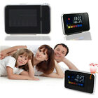 LED LCD Backlight Digital Weather Projection Snooze Alarm Clock Color Display