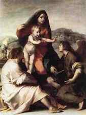 Andrea del Sarto Madonna della Scala di stampa in A4