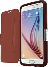 OtterBox Strada Leather Cover Case for Samsung Galaxy S6 - Burgundy