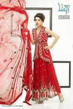 Pakistani Designer Heavy Embroidery semi stitched Suit Party Dress Wedding prom