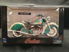 NewRay 1948 Indian Chief Turquoise & White Motorcycle 1:6 Scale Die Cast