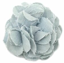 Zest Flower Hair Slide Clip Pale Denim Blue