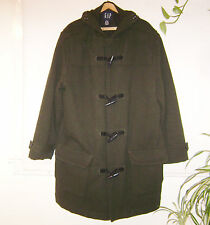 Mens Wool Toggle Coat Green XL GAP