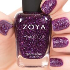 ZOYA ZP767 THEA Wishes Magical PixieDust nail polish~amethyst w/ hex glitter NEW