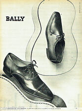 PUBLICITE ADVERTISING 096  1961  Bally   chaussures homme