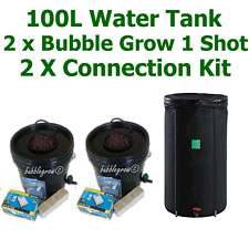 2 X BUBBLE GROW 1 SHOT + 100L WATER TANK + CONNECTOR KIT HYDROPONIC SYSTEM