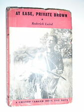 * AT EASE, PRIVATE BROWN by RODERICK LAIRD * UK POST £3.25* HARDBACK* CHATTO *