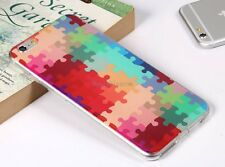 Colorful Puzzle Protective Soft Case Skin Back Cover for Apple iPhone 6 Plus