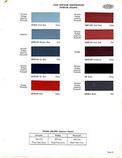 1966 DODGE CHARGER PLYMOUTH FURY SATELLITE CHRYSLER INTERIOR PAINT CHIPS DUPONT5