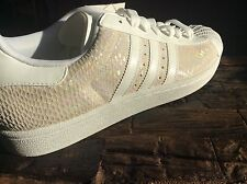 New Size 10 Adidas Superstar 1 Iridescent Pearl Snake Skin 2008 DS Tennis S