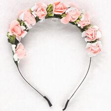 Floral Flower Garland Crown Headband Hair Band Bridal Valentine Gift