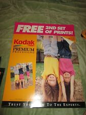 Vintage Kodak Store Display poster 2nd Set Free Premium Advertising kit