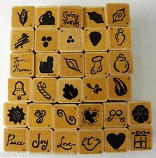 Lot 32 Mini Rubber Stamps for Tags Cards Teachers Scrapbooks by JRL DOTS Set 4