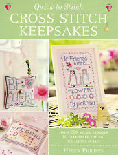 Cross Stitch Book : Quick to Stitch CROSS STITCH KEEPSAKES - by Helen Philipps!