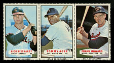 1967 BAZOOKA BASEBALL CARDS COMPLETE PANEL~#1 #2 TOMMY AGEE #3 FRANK HOWARD
