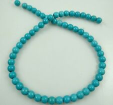 6mm Turchese ROUND Gemstone Loose Spacer Beads Strand 15 ""