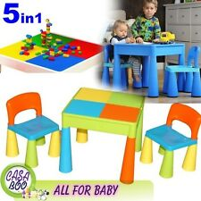 5in1 Multi Use Table and 2 Chairs Set for Children 3+ Activity Play ,Water, Lego