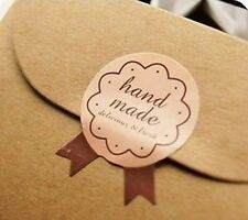 "x15 packaging stickers labels ""hand made"" gift decorate 2.7 x 3.5cm scrapbooking"