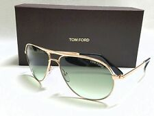 Authentic TOM FORD James Bond 007 MARKO FT0144 28P Rose Gold/Green SUNGLASSES