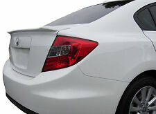 PAINTED SPOILER FOR A HONDA CIVIC 4-DOOR FLUSH MOUNT FACTORY STYLE 2012