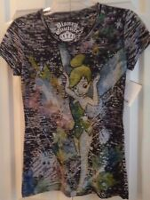NWT Women's Disney Couture Shirt Top T-Shirt Tink Tinker Bell Black Sz S