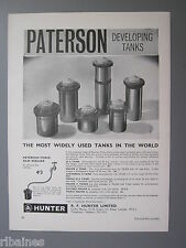 R&L Ex-Mag Advert: Paterson Developing Tanks, R.F Hunter