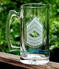 Personalized US Army Master Sergeant Beer Mug, MSG Custom Military Gift, 27.25oz