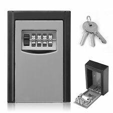 OUTDOOR SECURITY STEEL WALL MOUNT KEY BOX WITH COMBINATION LOCK/SAFE STORE KEYS