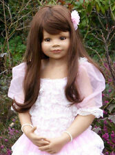 "Masterpiece Jillian Brunette Wig, Fits Up to 19"" Head, Doll Not Included."