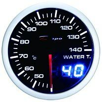52mm Celsius Depo Digital water temperature gauge White Red  WA5237LED-Cel