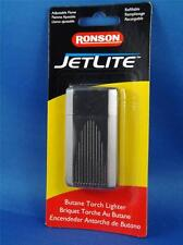 RONSON LIGHTER JETLITE BUTANE TORCH SATIN DUSK GREY LINES REFILLABLE CIGAR PIPE