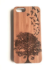 Birds Flight Case for iPhone SE 5 5S Bamboo Wood Cover Tree Freedom Swallows Fly