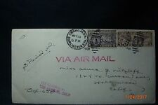 """1931 Perfin Air Mail  & Spec Del'y Franked  Adv Env """"1st nat'l Bank of Omaha Neb"""