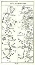 Antique map, Roads from Trim to Philipstown, Philipstown to Kilbeggan, ..
