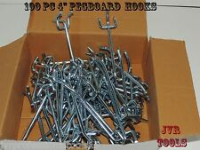 "100pcs 4"" PEG BOARD HOOKS Shelf Hanger Kit 4"" x 1/4"" Garage Storage Hanging Set"