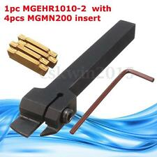 MGEHR1010-2 Grooving Tool Holder With 4Pcs MGMN200 Blade Insert For 2mm Lathe