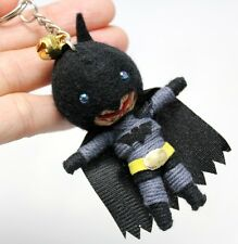 VOODOO BATMAN KEY CHAIN KEY RING DOLL BAG STRING HANDMADE HANDCRAFTED SUPERHERO