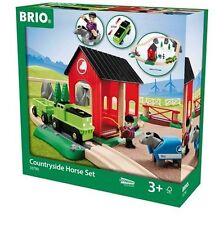 Holzeisenbahn Brio Bahn Pferde Bahn Spiel-Set 33790000 - Neuheit 2015