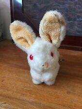 LAPIN SAUTEUR JOUET OLD TOY RABBIT JUMPING WESTERN GERMANY ANCIEN XX YEUX ROUGE