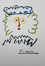 Pablo Picasso Lithograph King Kagpha