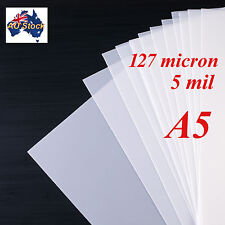 Stencil Film 5 sheets A5 Mylar: 127 micron for Airbrushing, Painting and Craft