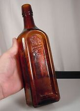 Antique Munyon's PAW-PAW Amber Glass Bottle