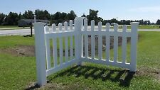 Angled Corner Picket Fence Driveway Garden Accent White Vinyl PVC Kit