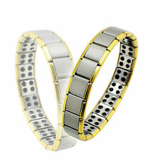 80 Germanium Titanium Energy Bracelet Power Bnagle Pain Relief Gift Golden Edge