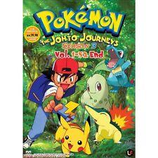 DVD Pokemon Season.3 The Johto Journey (TV 1 - 52 End) DVD + Free Gift
