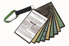 Tip Cards for Nikon DSLR Cameras D7100 D7000 D5200 D5100 D800f D700 D90 GREEN