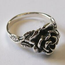 ROSE RING 925 STERLING SILVER THAILAND  flower hill  Size.US=9/R