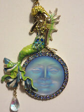 KIRKS FOLLY GOLD DREAMY MERMAID SEAVIEW MOON NECKLACE NWOT