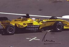Narain Karthikeyan - F1 Jordan autograph - Signed 8X12 Inches F1 Monaco 05 Photo